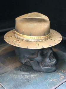 "Vintage rare custom hat "" Golden gypsy"""