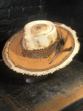 "Load image into Gallery viewer, Boho rock straw hat  ""Up side down , down side up """