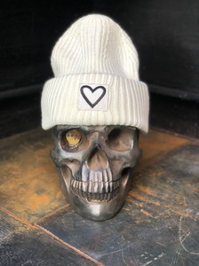 Find what you love beanie WHITE