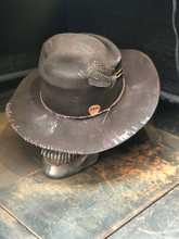 "Load image into Gallery viewer, Vintage Rare Custom  cowboy hat ,   ""HARD WORKER"""