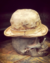 "Load image into Gallery viewer, Vintage Rare Custom Hat , "" The Star Bowler Rock n Roller"