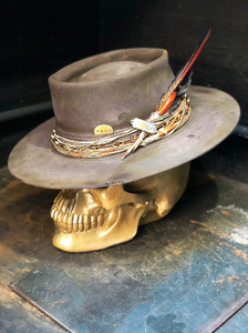 "Vintage Rare Custom Cowboy Hat , "" PICKED"""