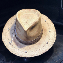 "Load image into Gallery viewer, Boho Rock straw hat "" Mystical sand """