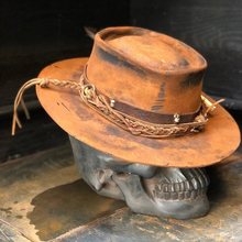 "Load image into Gallery viewer, Vintage Rare Custom Hat , ""double barreled """
