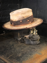 "Load image into Gallery viewer, Leather Vintage Rare Custom Beaver Felt Hat ""Filthy Fucker"" Cool Cowboy Mens Special Gifts for Him"