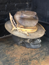 "Load image into Gallery viewer, Vintage Rare Custom cowboy hat , ""THE GUNNY SACK"""