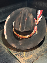 "Load image into Gallery viewer, Vintage Rare Custom hat , "" CATTLE RATTLE """