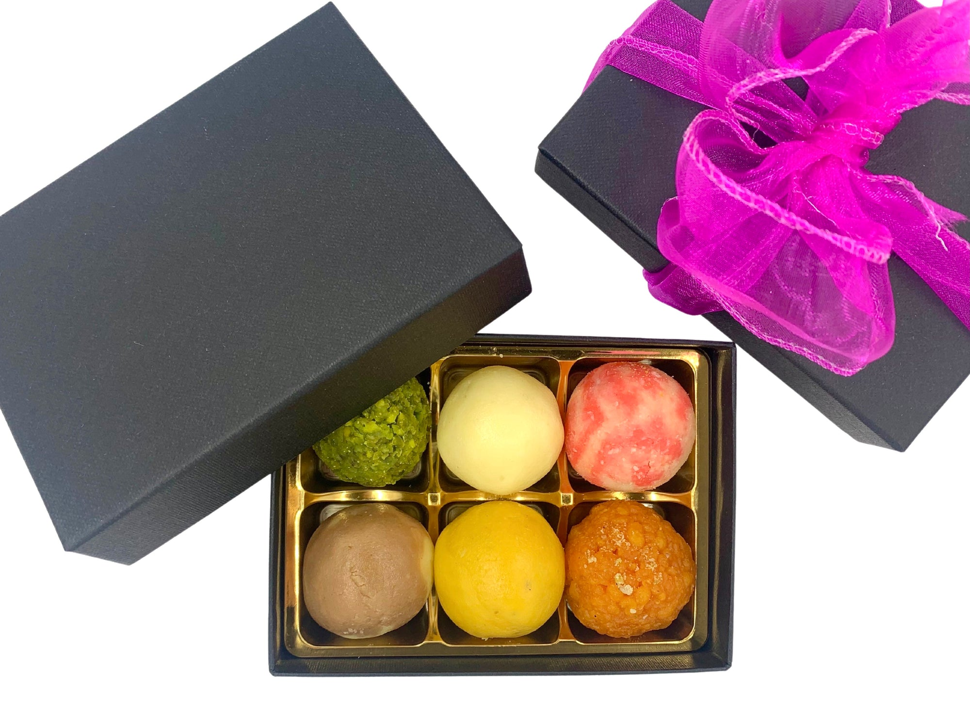 Mini Mixed Mithai: Black Gift Box