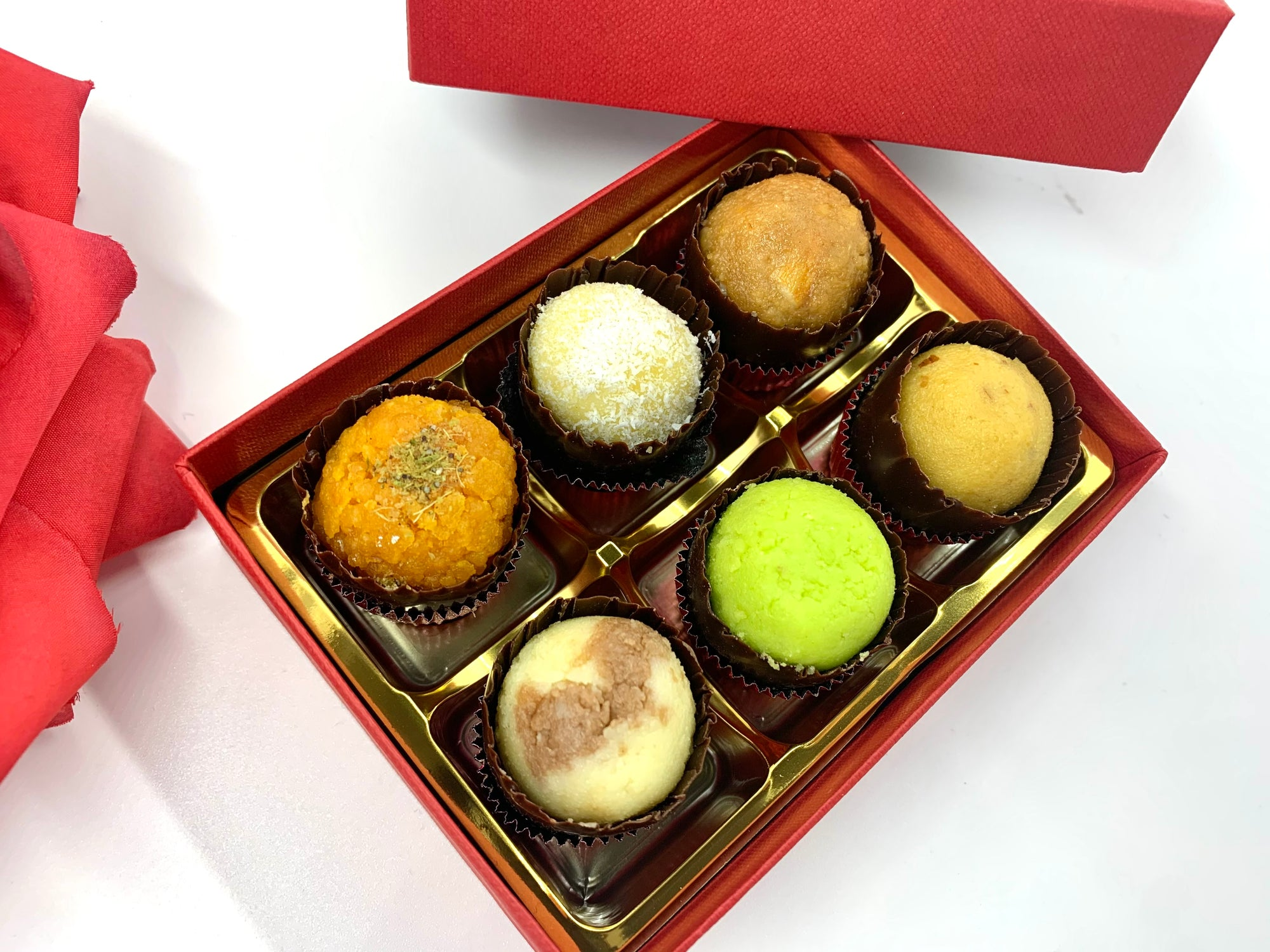 Mini Mixed Mithai: Red Gift Box