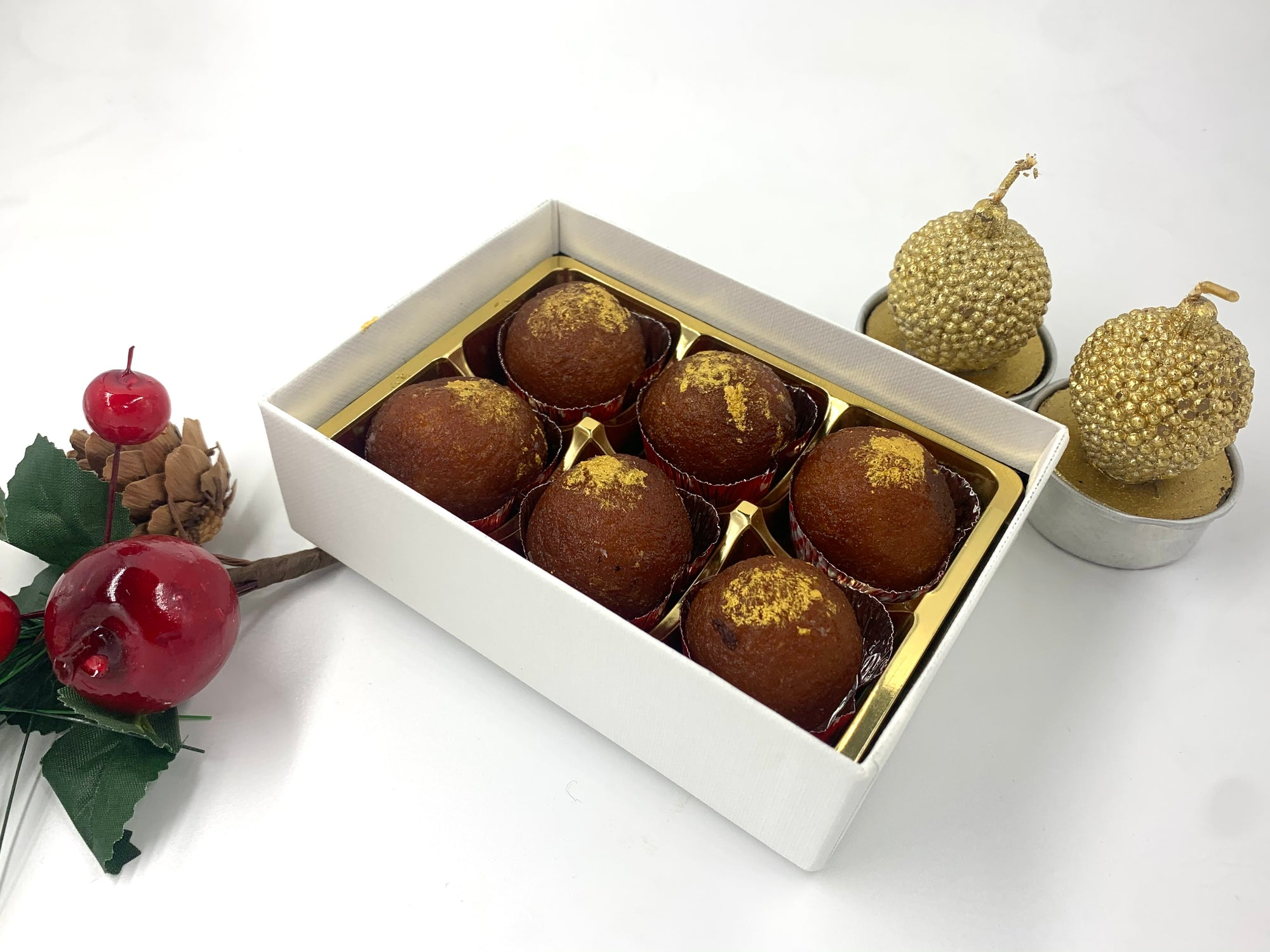 Premium Selection: Mini Gulab Jamun (Gold)