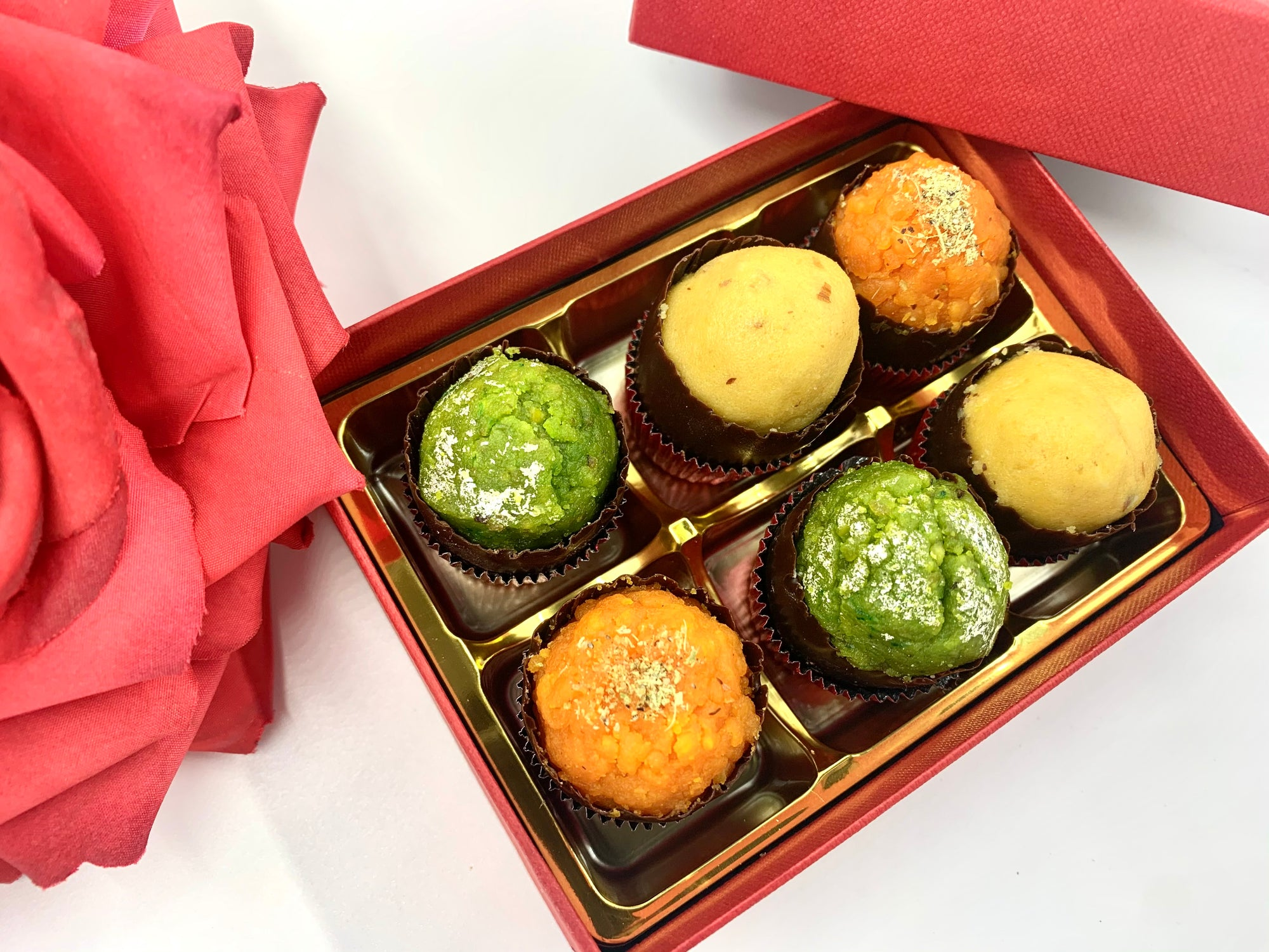 Vegan Mini Mixed Mithai: Gift Box