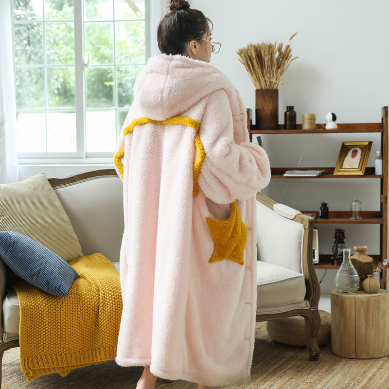 Fun Oversized Hoodie Sweatshirt Fleece Blanket Pink