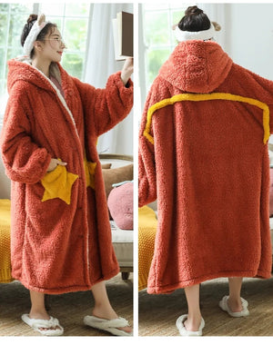 Fun Oversized Hoodie Sweatshirt Fleece Blanket Orange