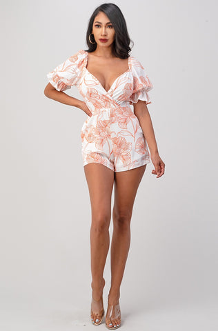 Mid Floral Romper