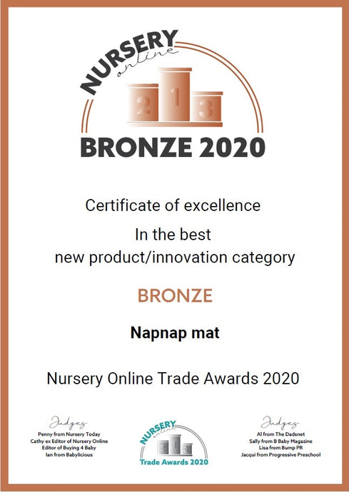 NapNap mat wins a 'Nursery Online' Trade Award!