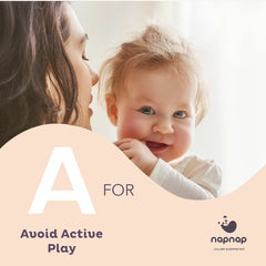 A is Avoid active play at bedtime sleep tips from NapNap