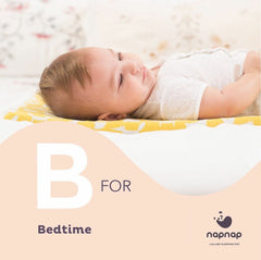 NapNap baby sleep mats sleep tips B is for bedtime
