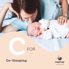 C is for co-sleeping NapNap baby tech baby sleep aid top tips for getting your baby to sleep well