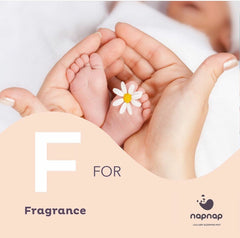 F is for Fragrance baby sleep sprays recommended by NapNap for baby bedtime Child's Farm and Bloom and Blossom