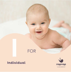 I is for individual Not all babies are the same NapNap baby sleep mats