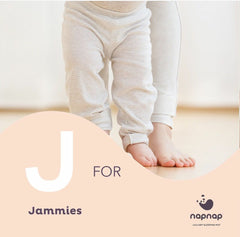 J is for Jammies!  Napnap baby sleep product sleep mat for babies