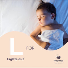 L is for lights out napnap sleep mats for babies sleep aid award winning