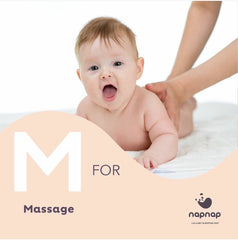 M is for massage help with baby sleep newborn sleep routines NapNap mat