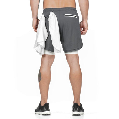 2 in 1 Fitness Shorts - Anthrazit