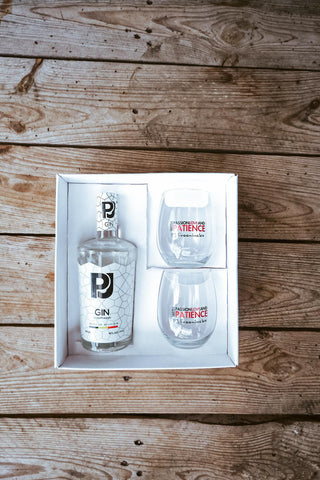 PJ gin giftpack with 2 glasses 500ml 40% alc./vol.