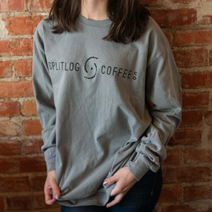 Comfort Colors ring-spun long sleeve t-shirt in a muted grey.   True to size.  100% Cotton