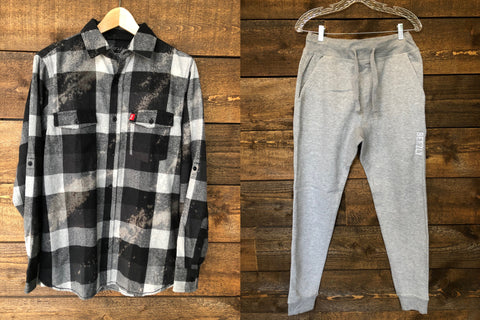 Beezly Flannel & Gray Jogger Bundle