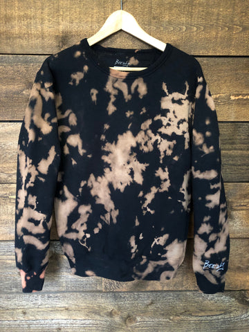 Crewneck Sweatshirt - Black & Bleach