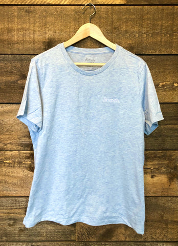 Embroidered Brunch Women's Tee - Pale Blue