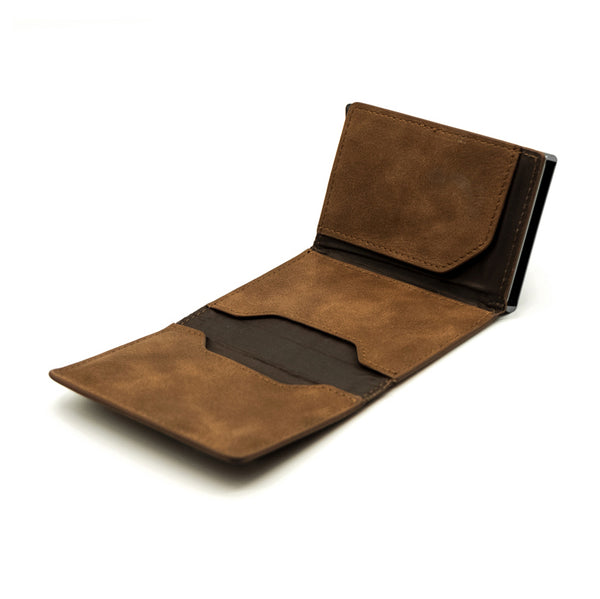 Card Holder II - MARRONE - con portamonete