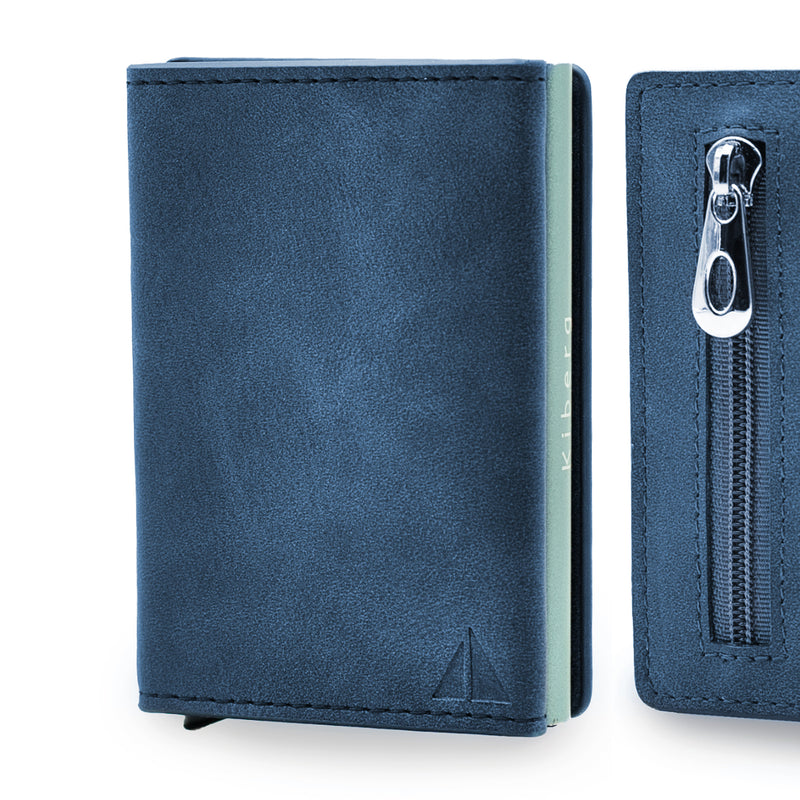 Card Holder II - BLU - con portamonete