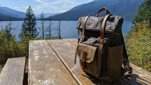 Adventurer's Pack - Handmade Waxed Canvas Leather Backpack