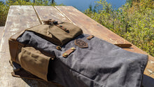 Load image into Gallery viewer, Adventurer's Pack - Handmade Waxed Canvas Leather Backpack