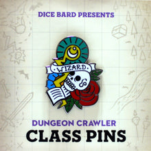 Load image into Gallery viewer, Wizard - D&D Dungeon Crawler Enamel Class Pin