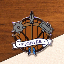 Load image into Gallery viewer, Fighter - D&D Dungeon Crawler Enamel Class Pin