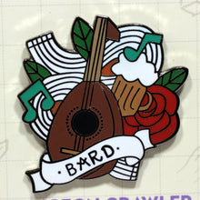 Load image into Gallery viewer, Bard - D&D Dungeon Crawler Enamel Class Pin