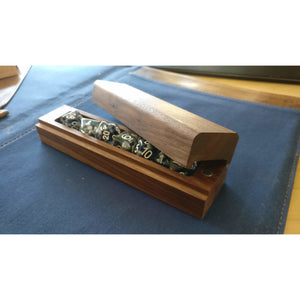 Handmade wooden dice box (+ FREE dice included)