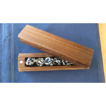 Load image into Gallery viewer, Handmade wooden dice box (+ FREE dice included)