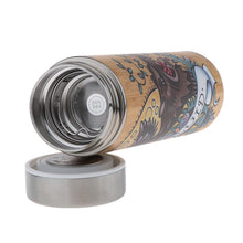 Load image into Gallery viewer, D&D Thermos - Druid Artwork - Bamboo Stainless Steel Thermos Tumbler. Keep coffee and tea hot, beer cold!