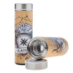 D&D Thermos - Ranger Artwork - Bamboo Stainless Steel Thermos Tumbler. Keep coffee and tea hot, beer cold!