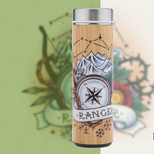 Load image into Gallery viewer, D&D Thermos - Ranger Artwork - Bamboo Stainless Steel Thermos Tumbler. Keep coffee and tea hot, beer cold!