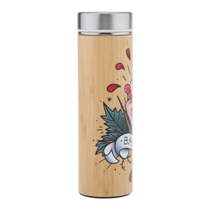 D&D Thermos - Barbarian Artwork - Bamboo Stainless Steel Thermos Tumbler. Keep coffee and tea hot, beer cold!
