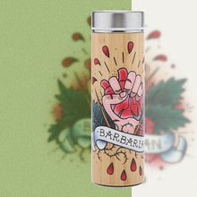 Load image into Gallery viewer, D&D Thermos - Barbarian Artwork - Bamboo Stainless Steel Thermos Tumbler. Keep coffee and tea hot, beer cold!