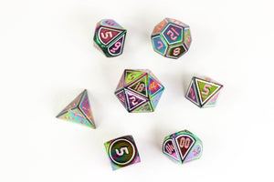 Dice Mystery Bag - The Greatest DnD Dice Mystery Bag in the World. 1 in 4 metal sets, all resin - no acrylic!