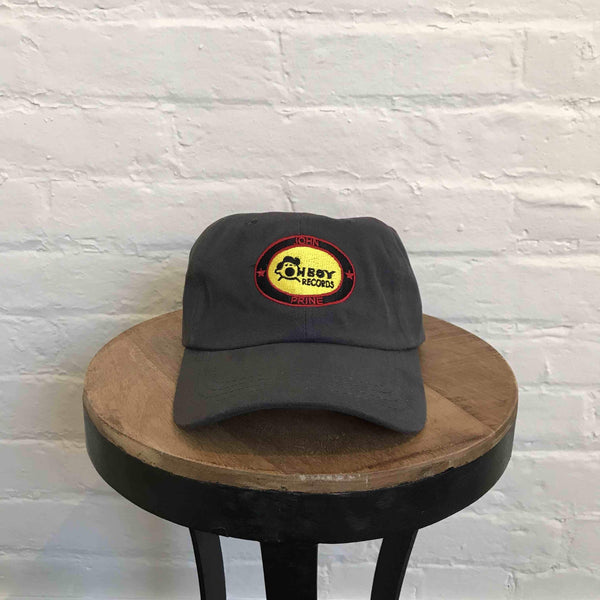 Oh Boy Records & John Prine Baseball Cap (Gray) - OH BOY RECORDS