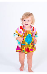 Lemon Floral Baby GIrl's 2 PC Set by Pink Chicken on model Free Shipping